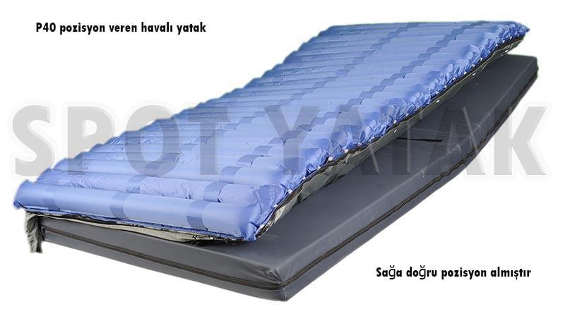 Sağa doğru pozisyon veren havalı yatak