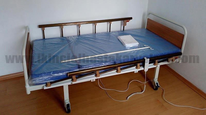 iki motorlu abs hasta yatağı şilteli görsel resmi