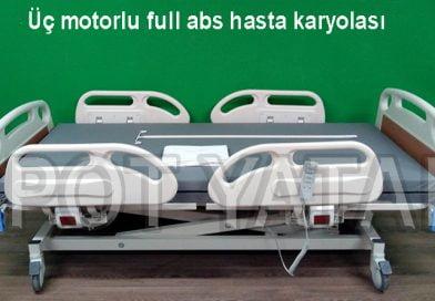 Üç motorlu full abs hasta karyolası