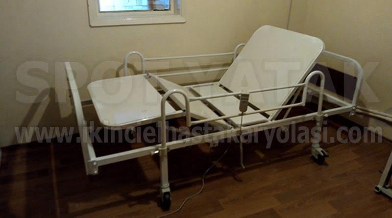 Çift motorlu hasta yatağı
